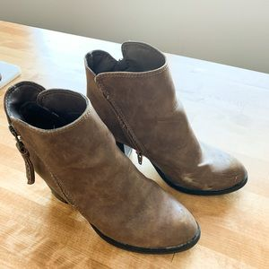 Cognac Heeled Ankle Boots